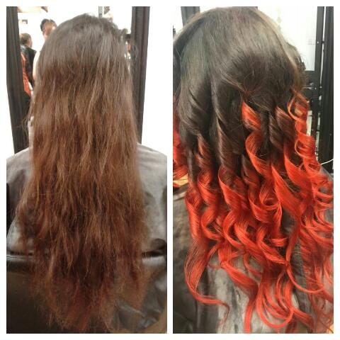 Sheek Salaon Scarborough Before After Hair Ombre