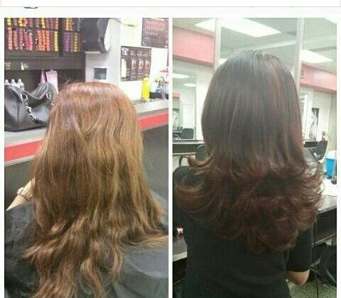 Sheek Salaon Scarborough Before After Hair styling